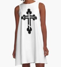 Orthodox cross A-Line Dress