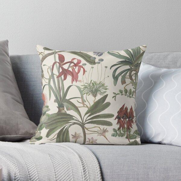 State Library Victoria Botanical Stravaganza Throw Pillow