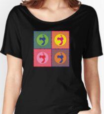 Double Neck Guitar Player Pop Art Women's Relaxed Fit T-Shirt