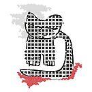 Pixelart, Kitty, Katze, Cat, abstrakt, Katzenmotiv von einechtervogel