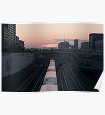 GO Train at Sunset Poster