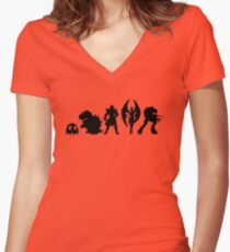 It's Evilutionary  Women's Fitted V-Neck T-Shirt