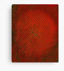 Net Art - 2 Layer - Green on Red Canvas Print