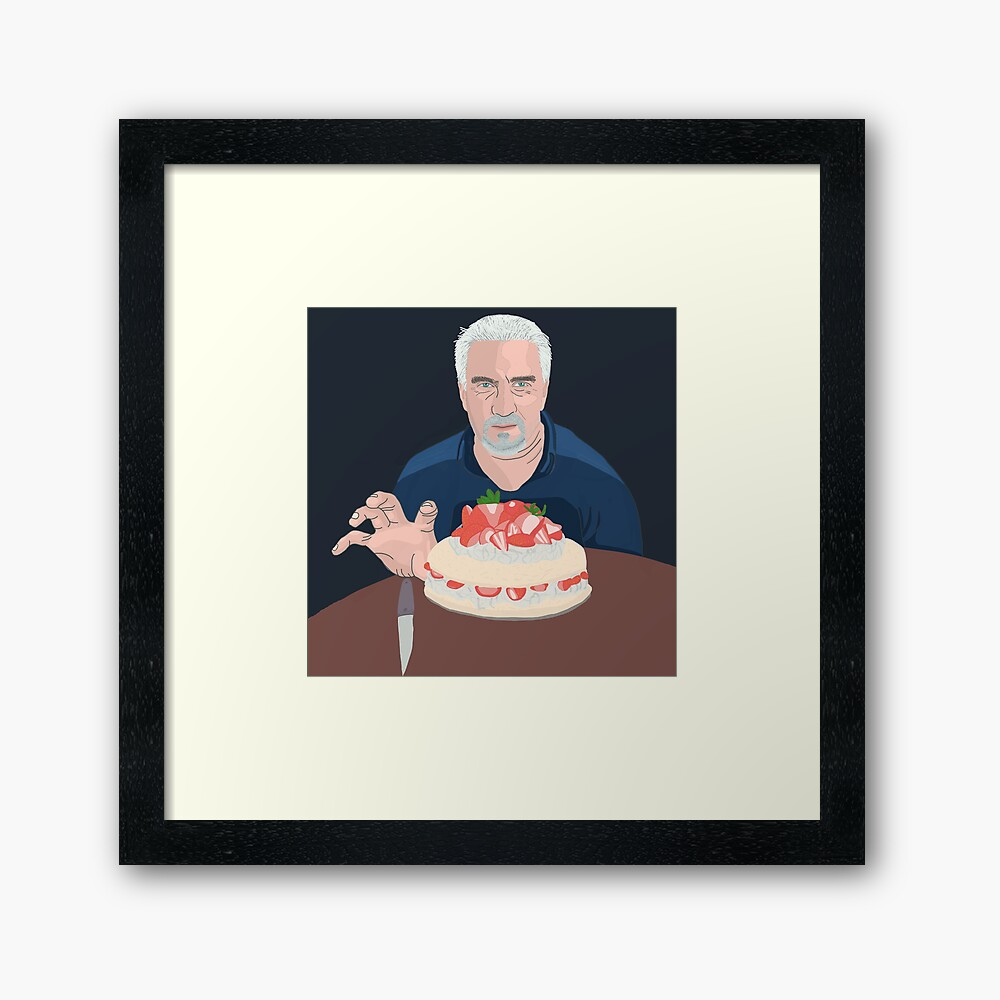 Paul Hollywood is hungry Framed Art Print