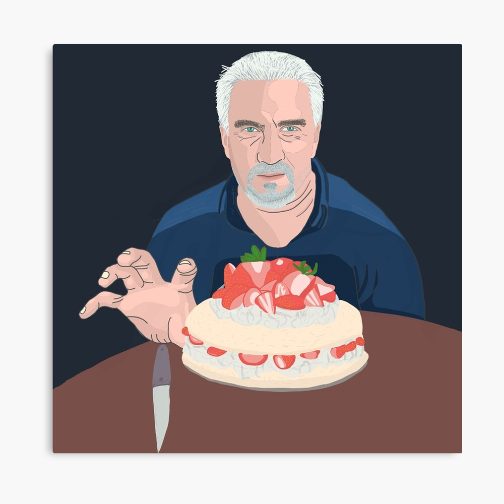 Paul Hollywood is hungry Canvas Print