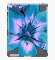 Photoshop Lily blue iPad Case/Skin
