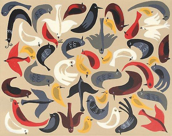 Birdie Collage by elgatogomez