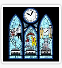BTTF I,II,III- Stained Glass Window Sticker