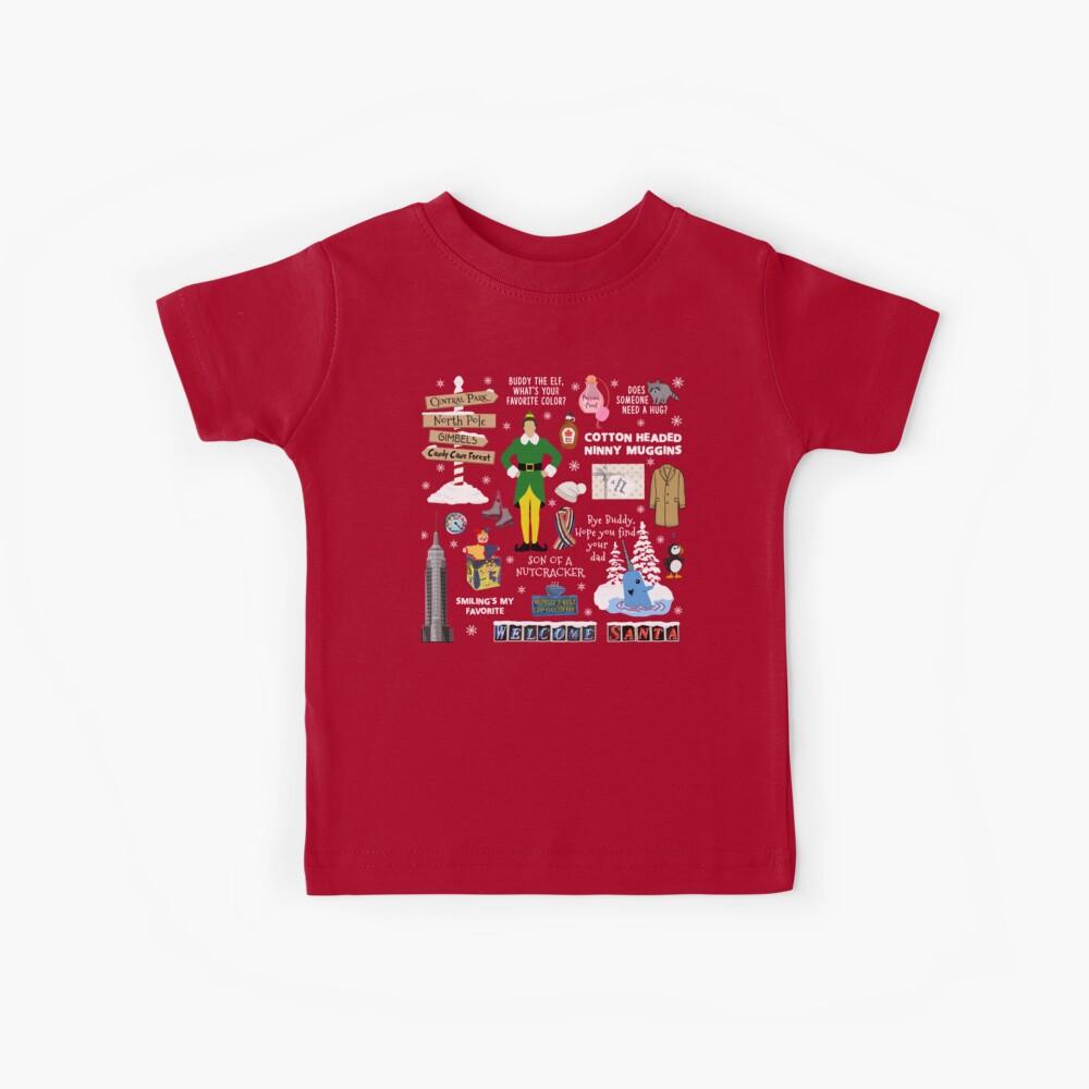 Freund die Elfencollage, roter Hintergrund Kinder T-Shirt