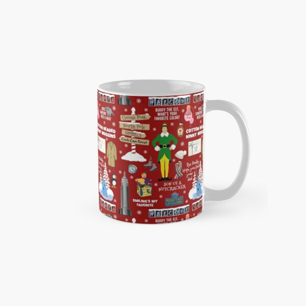 Buddy the Elf collage, Red background Classic Mug