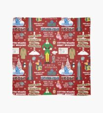 Buddy the Elf collage, Red background Scarf