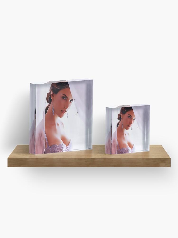 Alternate view of Gal Gadot - Celebrity Art Acrylic Block