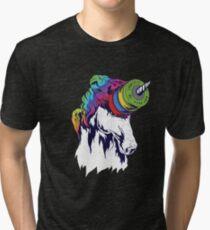 Camiseta de tejido mixto Platos de Unicornio y Competición