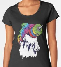 Unicorn and Competition Plates Women's Premium T-Shirt