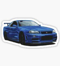 Nissan R34 GTR Skyline blue Sticker