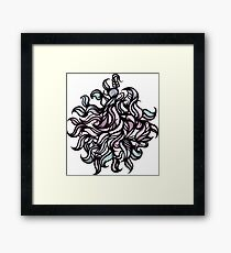 Abstract Floral vector illustration. Framed Print