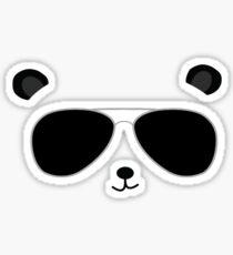 Badass Aviator Panda Sticker