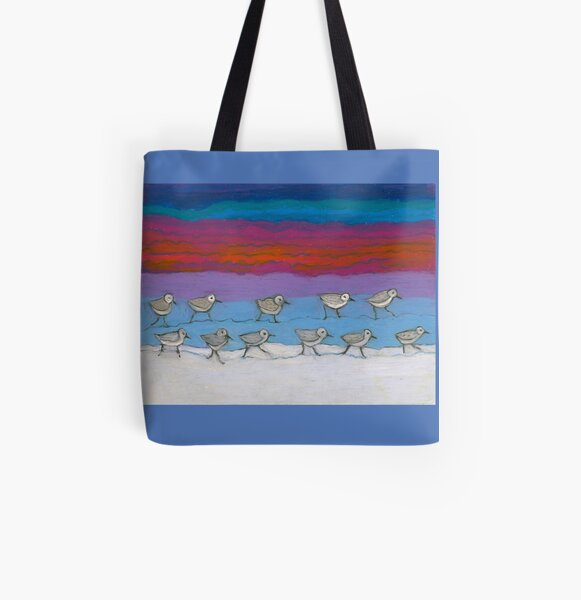 Eleven Pipers Piping All Over Print Tote Bag