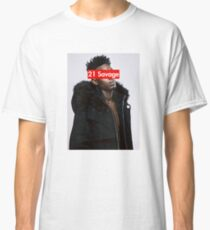 21 Savage w/SUPREME T-SHIRT Classic T-Shirt