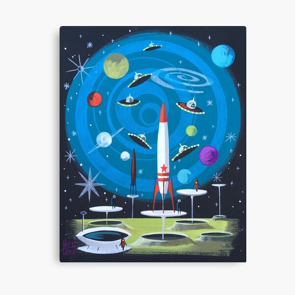 Spaceships In Space Canvas Print
