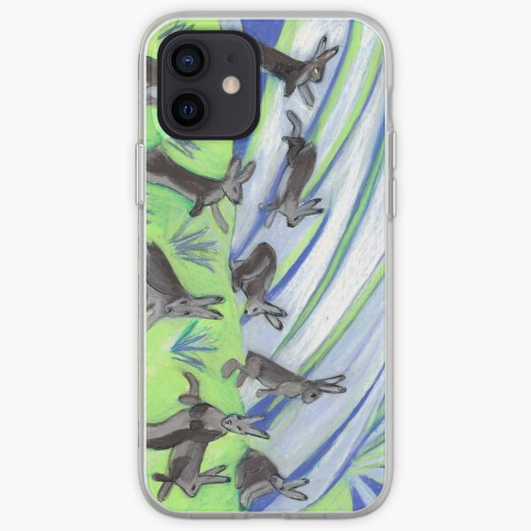 Ten Leaping Hares iPhone Soft Case