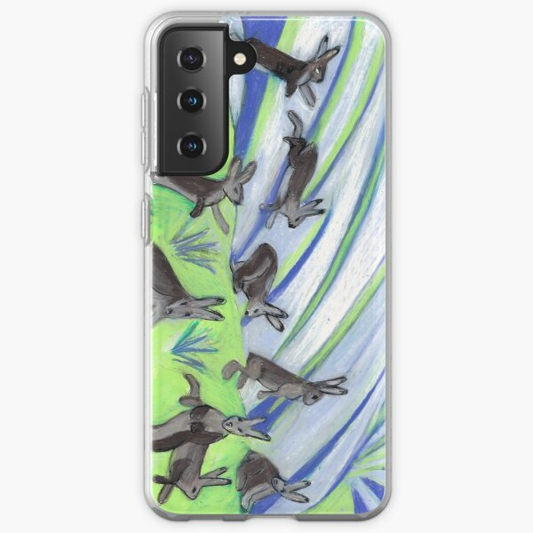 Ten Leaping Hares Samsung Galaxy Soft Case