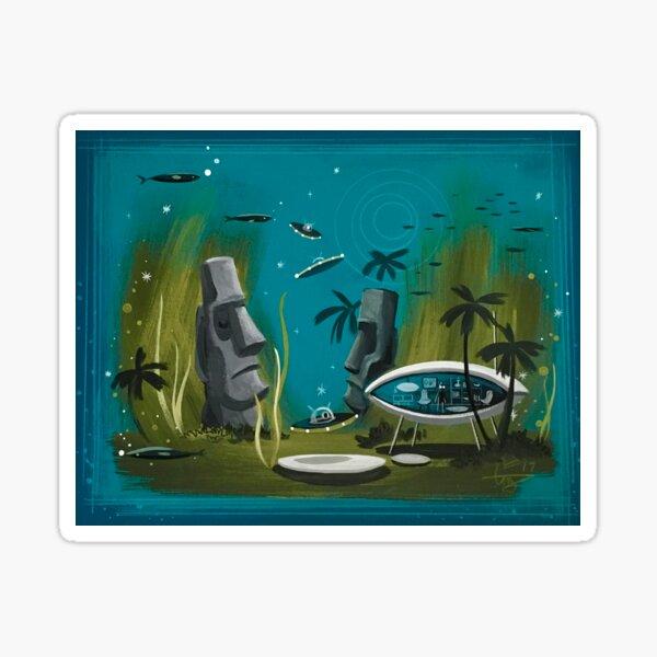 Undersea Moai Sticker