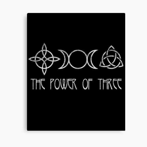 El poder de tres: te ayudará a serlo. Lienzo