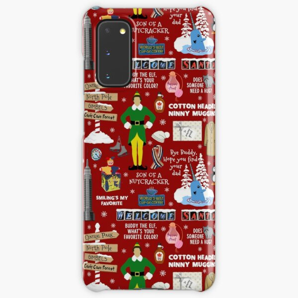 Buddy the Elf collage, Red background Samsung Galaxy Snap Case
