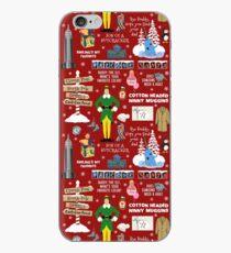 Freund die Elfencollage, roter Hintergrund iPhone-Hülle & Cover