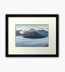 Volcano Mountain Geography Geology Landscape Framed Print