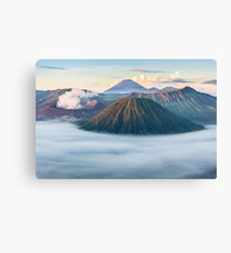 Volcano Mountain Geography Geology Landscape Canvas Print