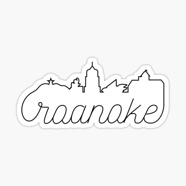 Roanoke Line Art Sticker