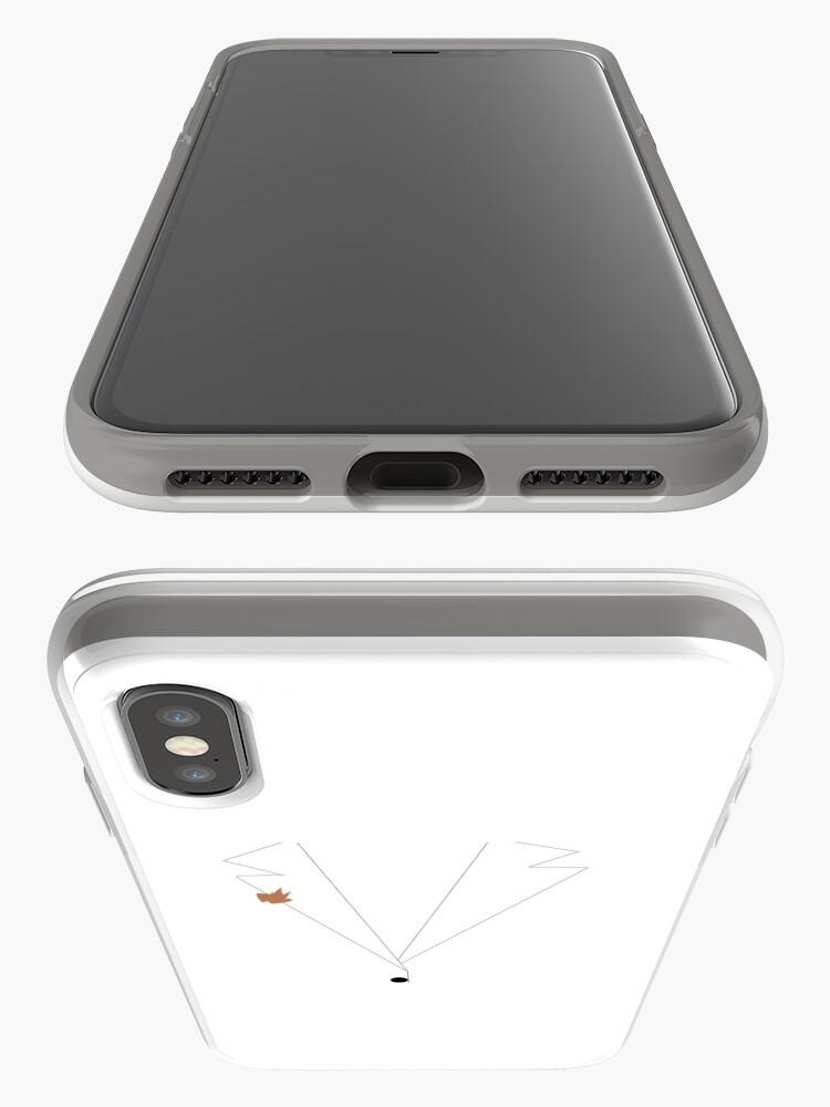 Vista alternativa de Funda y vinilo para iPhone Traje de poder blanco de Ilana