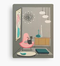cat in room  Canvas Print