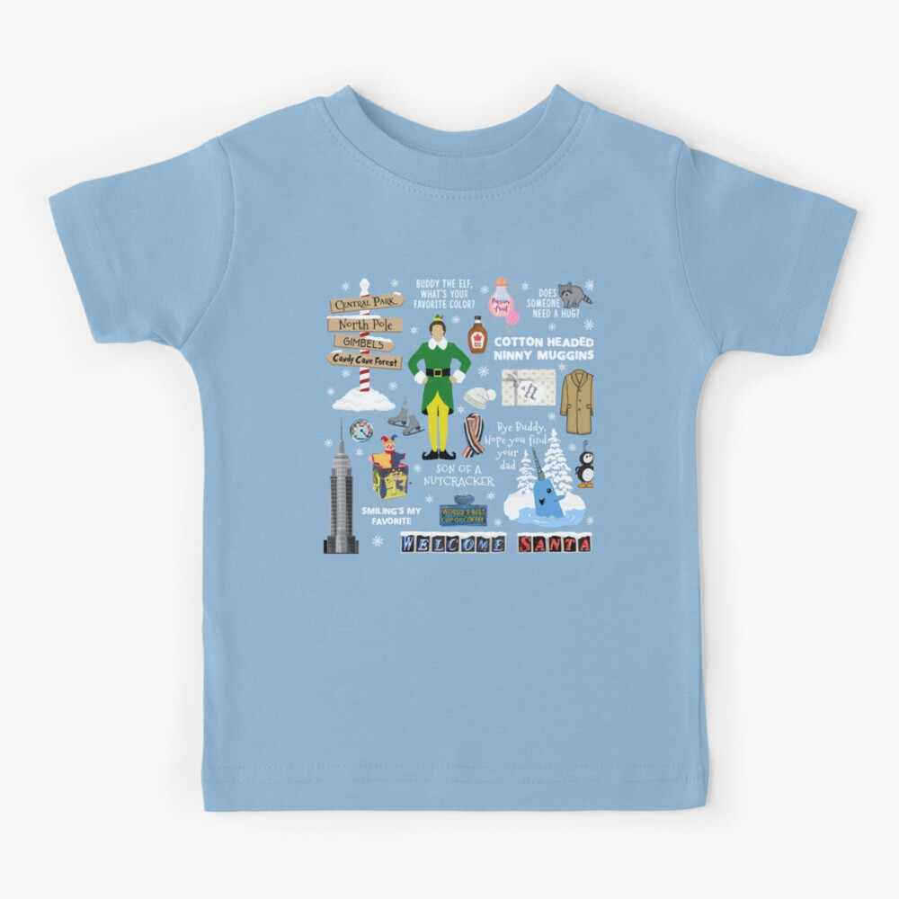 Freund die Elfencollage, blauer Hintergrund Kinder T-Shirt