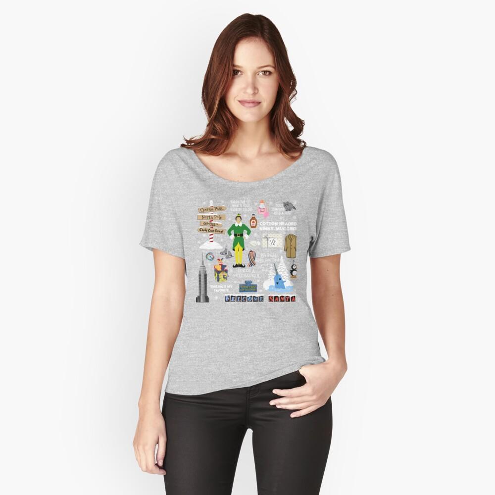 Freund die Elfencollage, blauer Hintergrund Loose Fit T-Shirt