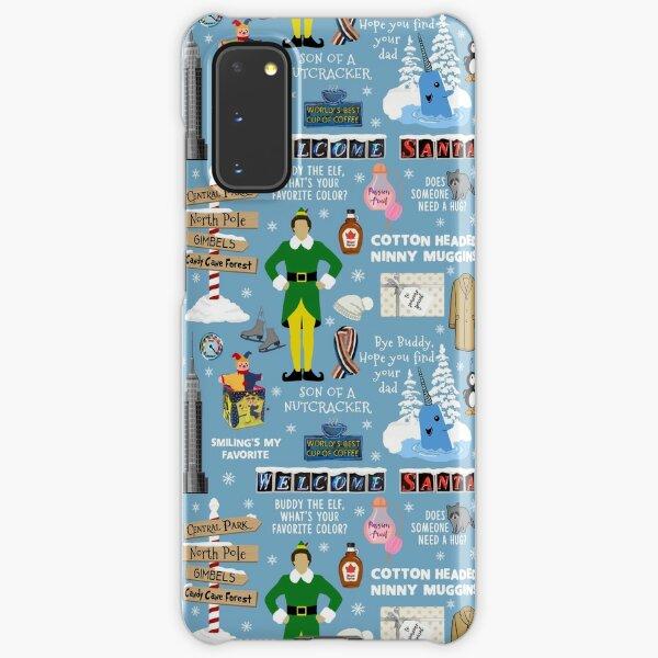 Buddy the Elf collage, Blue background Samsung Galaxy Snap Case