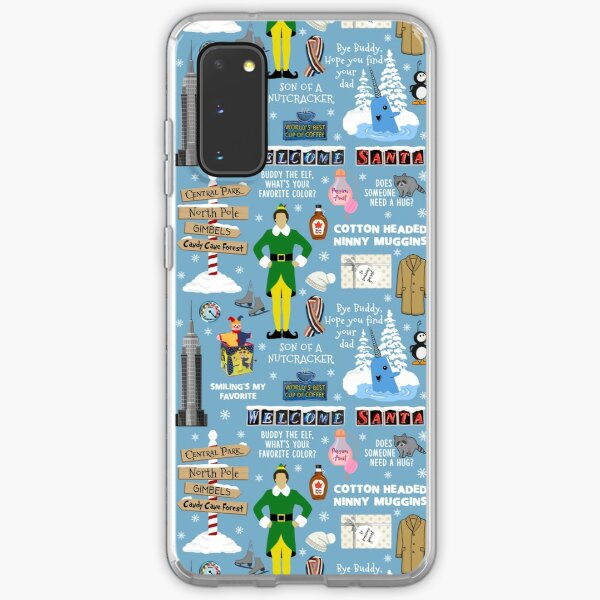 Buddy the Elf collage, Blue background Samsung Galaxy Soft Case