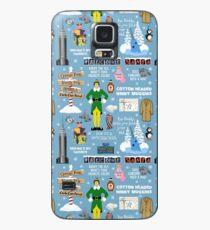 Buddy the Elf collage, Blue background Case/Skin for Samsung Galaxy