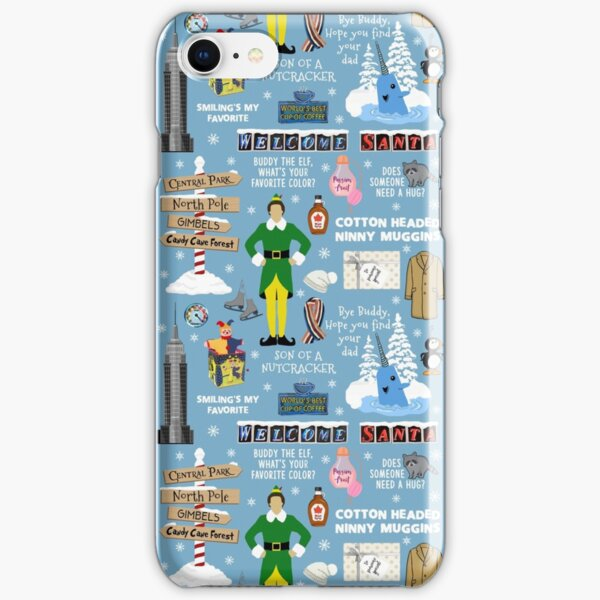 Buddy the Elf collage, Blue background iPhone Snap Case