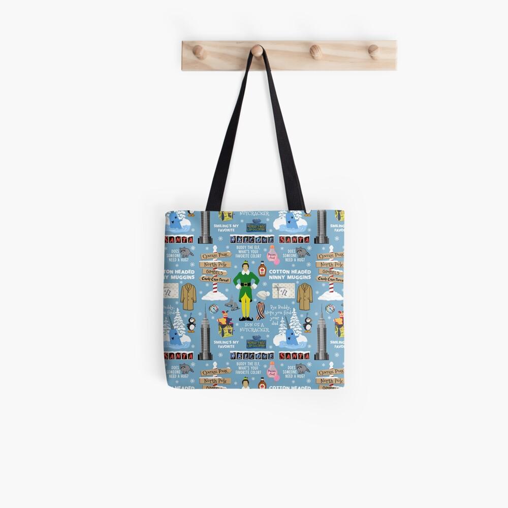Freund die Elfencollage, blauer Hintergrund Stofftasche
