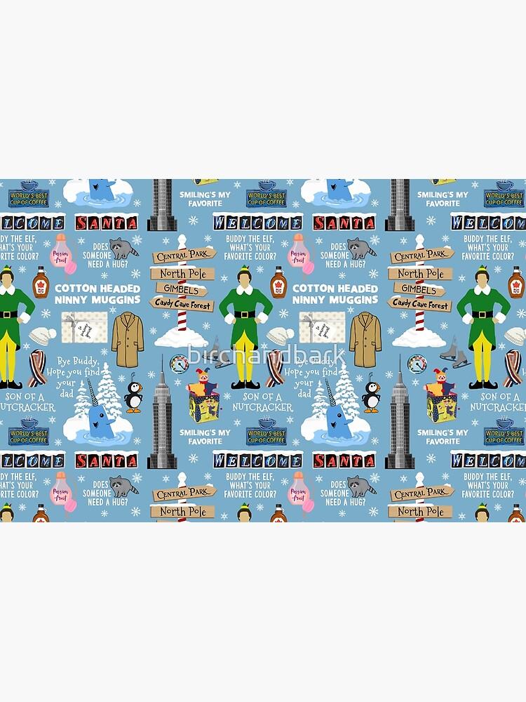 Freund die Elfencollage, blauer Hintergrund von birchandbark