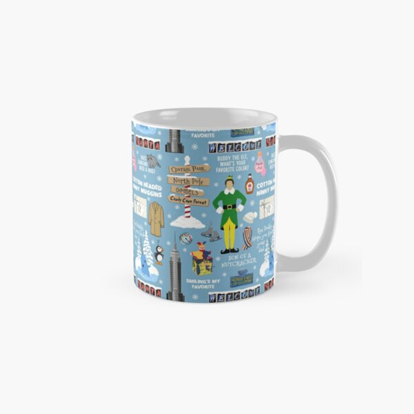 Buddy the Elf collage, Blue background Classic Mug