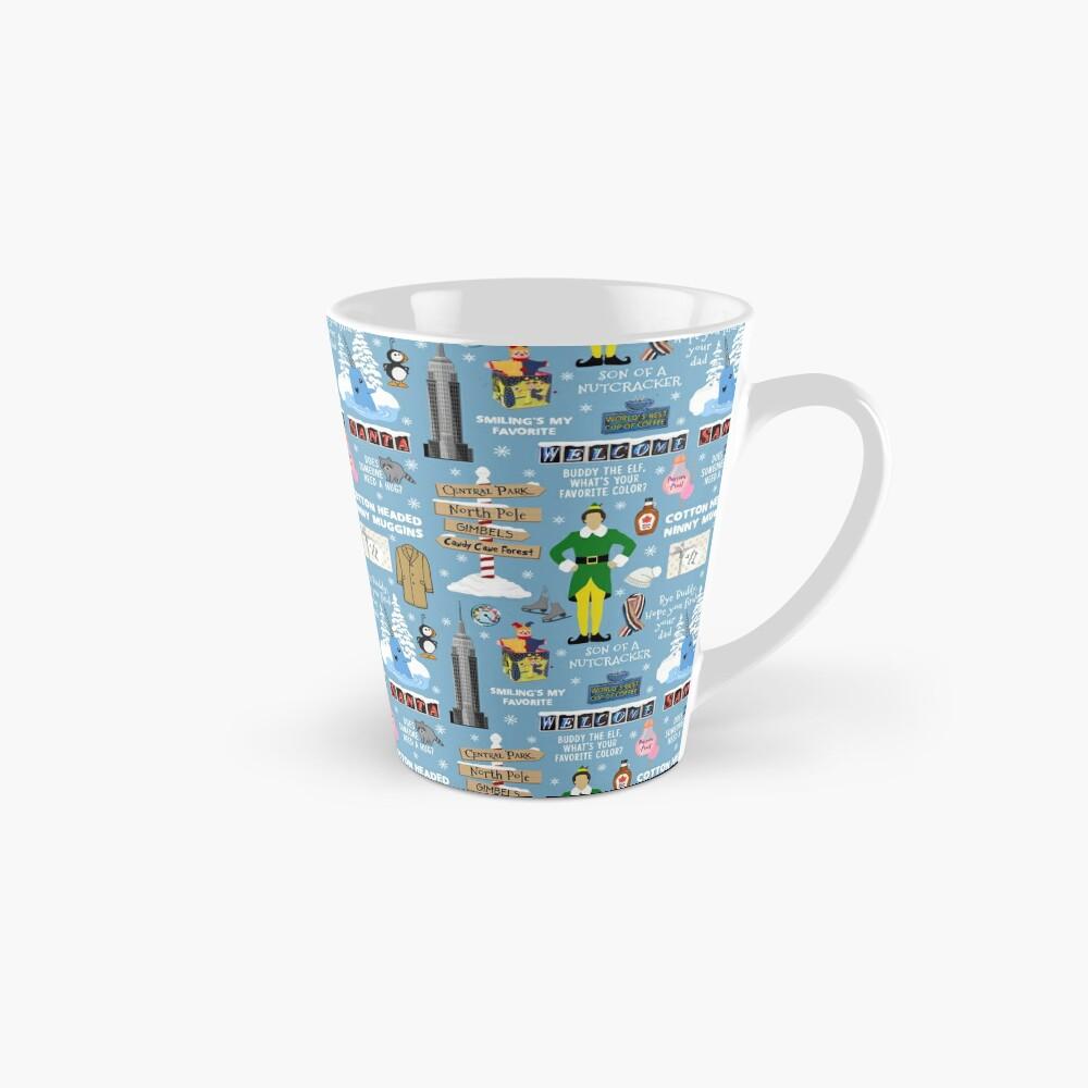 Buddy the Elf collage, Blue background Mug