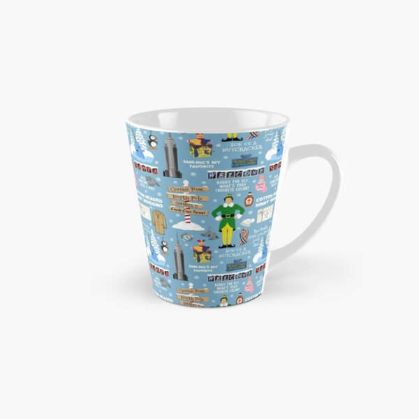 Buddy the Elf collage, Blue background Tall Mug