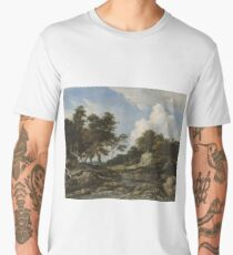Philips Wouwerman,,  CAVALRY ON THE MOVE, A FORTIFICATION UNDER SIEGE BEYOND Men's Premium T-Shirt