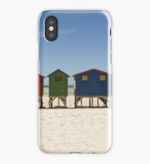 Beach Huts Sunny Summers Day  iPhone Case/Skin