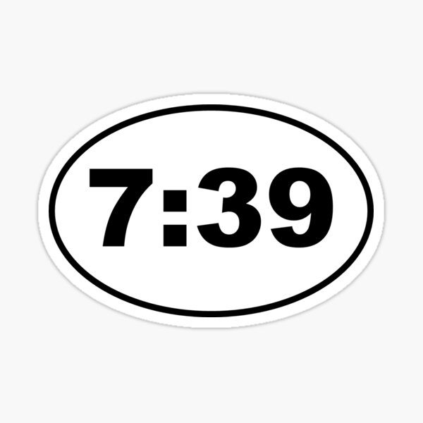 7:39 Digital Clock Sticker Sticker