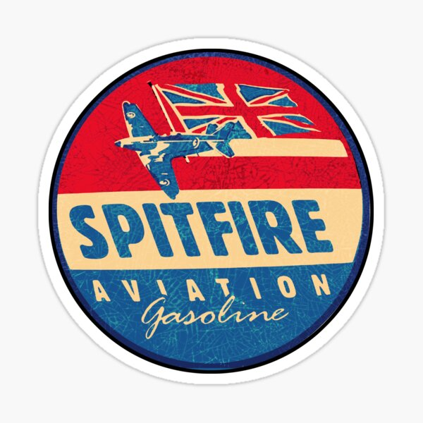 Spitfire Aviation Gasoline Sticker